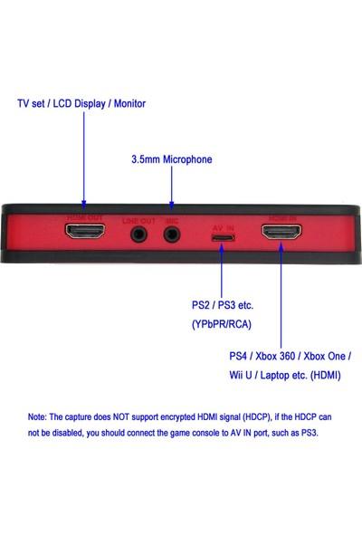 Hopcentury Oyun Video Yakalama Kutusu Kartı HDMI 1080P Kaydedici Cihazı