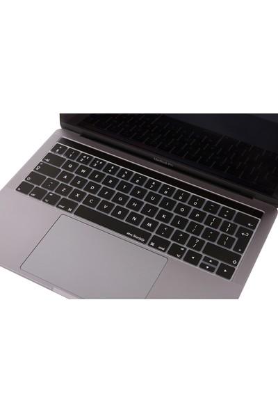 Macstorey Apple Yeni Macbook Pro A1706 A1989 13 A1707 A1990 15 Toucbarlı Q Klavye Koruyucu Silikonlu Kılıf UK İngilizce 1294