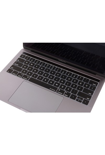Macstorey Apple Yeni Macbook Pro A1706 A1989 13 inç A1707 A1990 inç 15 Toucbarlı Q Klavye Koruyucu Kapağı Silikonlu Kılıf US to Türkçe Baskı TR 1226