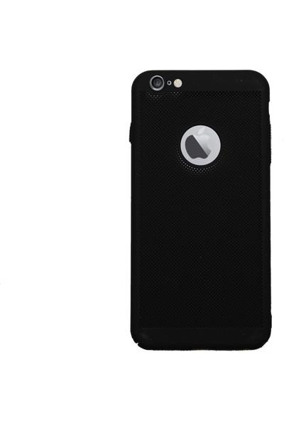 MarkaAvm Apple iPhone 6 Plus 6S Plus Fileli Rubber Kılıf - Siyah