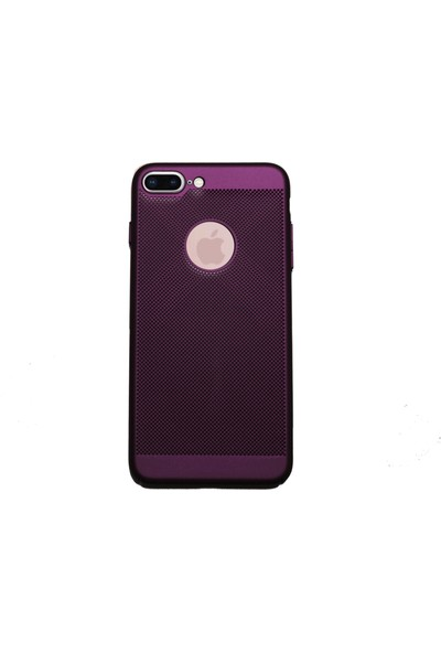 MarkaAvm Apple iPhone 7 Plus Fileli Rubber Kılıf - Mürdüm