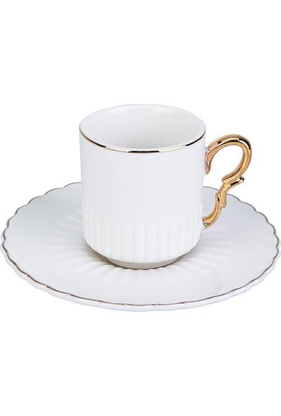 Karaca Bend 6 Kişilik Kahve Fincan Takımı