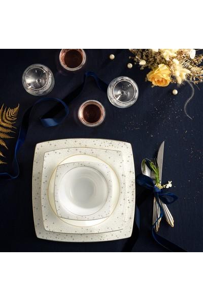 Karaca Fine Pearl Antares 62 Parça 12 Kişilik Inci Yemek Takımı Kare