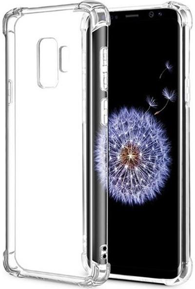 Esepetim Samsung Galaxy J8 Dört Köşeli Kılıf - Şeffaf