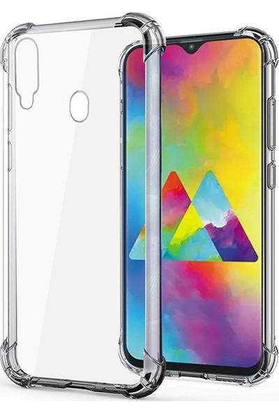 Esepetim Samsung Galaxy M10 Dört Köşeli Kılıf - Şeffaf
