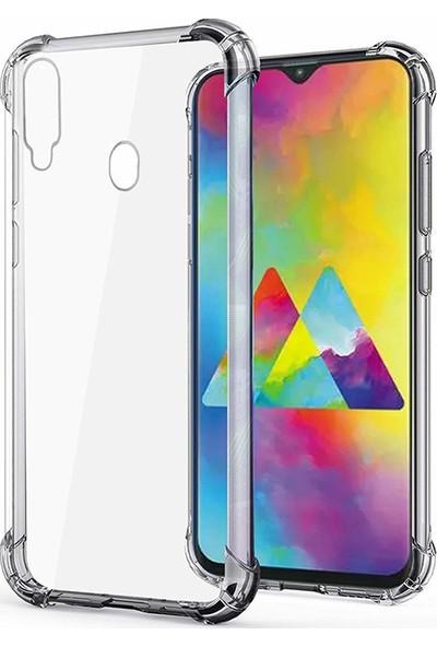 Esepetim Samsung Galaxy M20 Dört Köşeli Kılıf - Şeffaf
