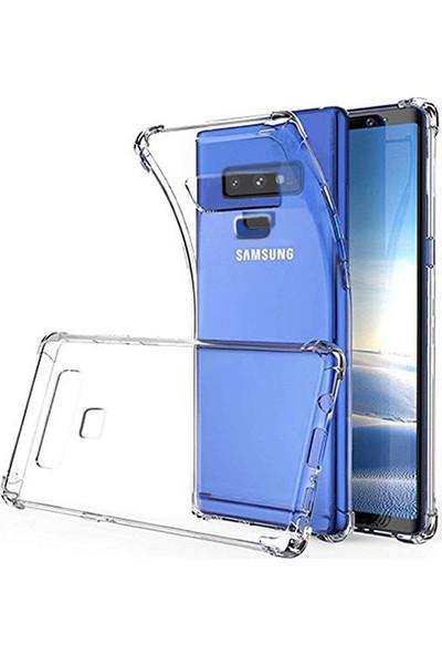 Esepetim Samsung Galaxy Note 9 Dört Köşeli Kılıf - Şeffaf