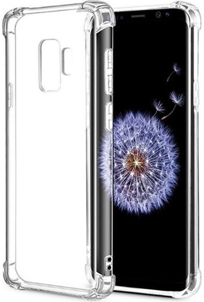 Esepetim Samsung Galaxy S9 Plus Dört Köşeli Kılıf - Şeffaf