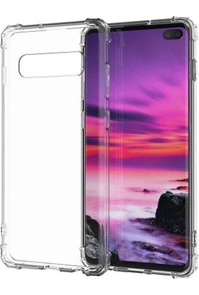 Esepetim Samsung Galaxy S10 Dört Köşeli Kılıf - Şeffaf