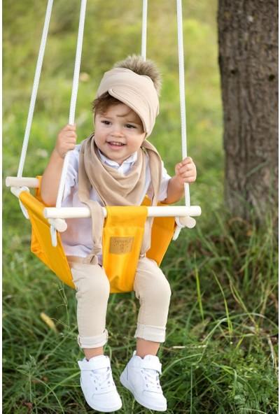 Childlair Ahşap Minderli Bebek Çocuk Bahce Ev Tavan Salıncağı 003