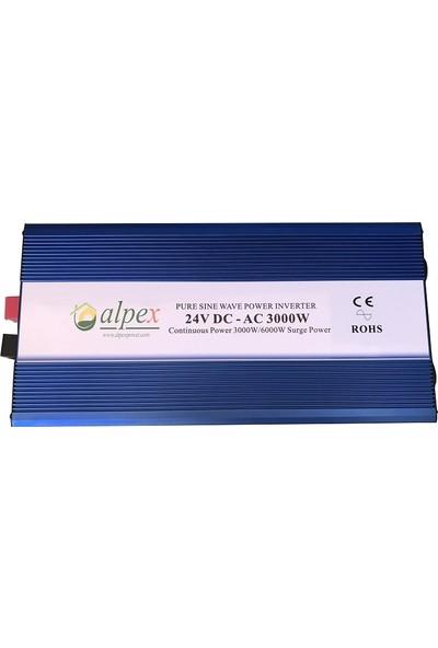 Alpex Tam Sinüs Inverter 3000W 24V
