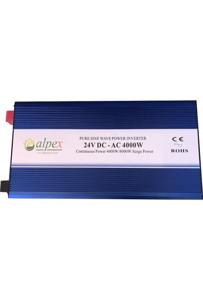 Alpex Digital Ekranlı 4000W 24V Tam Sinüs Inverter