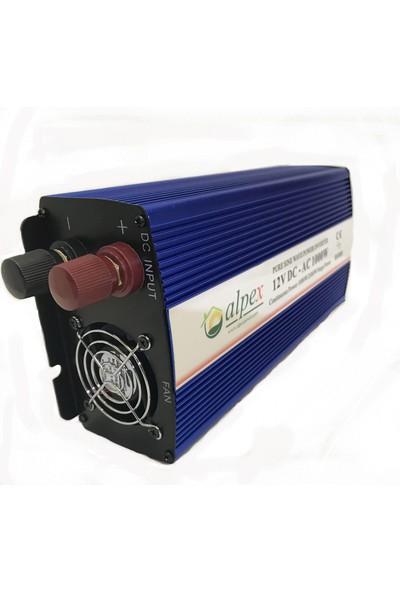 Alpex Tam Sinüs Inverter 1000W 24V