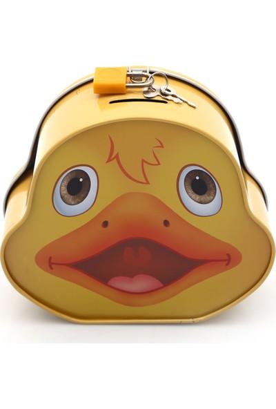 Buldum Kumbara metal kilitli metal ördek sarı