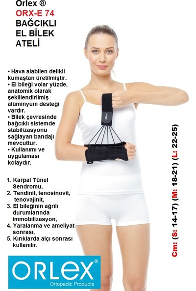Orlex® Orx-E 74 Bağcıklı El Bilek Ateli