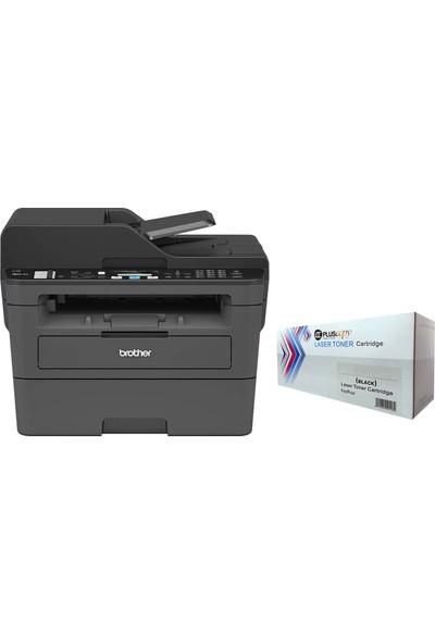 Brother A4 MFC-L2716DW Faxlı Çok Fonksiyonlu Mono Lazer Yazıcı Tam Dolu Pluscopy Tonerli
