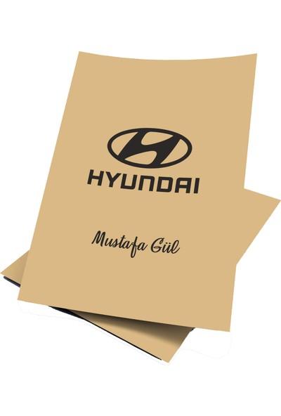 Baskı Life Kişiye Özel Baskılı Hyundai Oto Paspas Kağıdı 43 x 31 cm 100 Adet