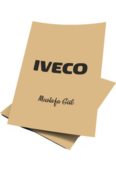 Baskı Life Kişiye Özel Baskılı Iveco Oto Paspas Kağıdı 43 x 31 cm 100 Adet
