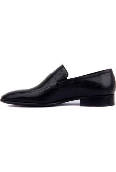Fosco Erkek Siyah Lazer Deri Neolit Klasik Ayakkabı