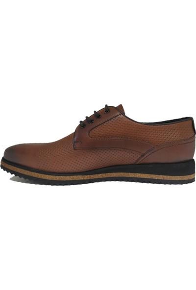 Pabucchi Erkek Taba Eva Taban Bağcıklı Klasik Ayakkabı