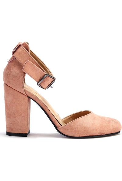 Pabucchi Kadın Bilekten Bağlamalı Topuklu Stiletto Ayakkabı