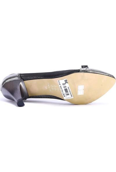 Pabucchi Kadın Fiyonklu Dantel Stiletto Topuklu Ayakkabı