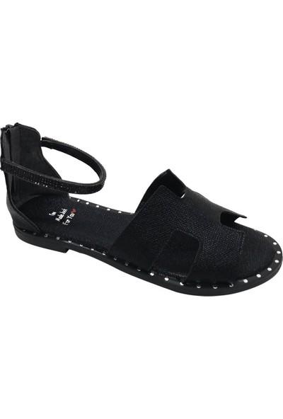 Pabucchi Kadın Siyah Hermes Yazlık Sandalet