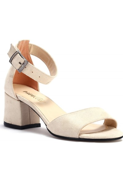 Pabucchi Kadın Stiletto Açık Burunlu Kısa Topuk Ayakkabı