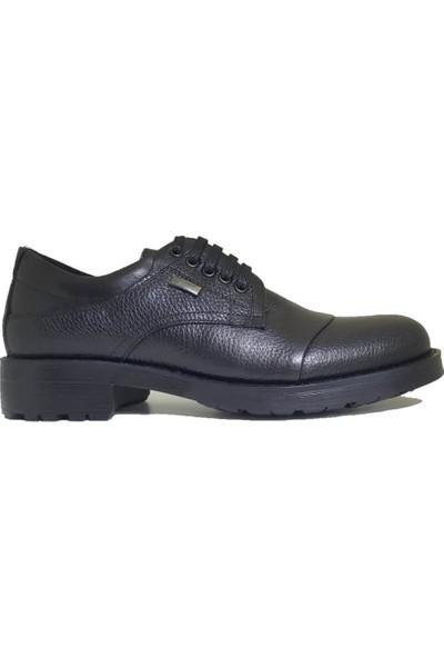 Serdar Yeşil Erkek Siyah Deri Kauçuk Taban Klasik Ayakkabı