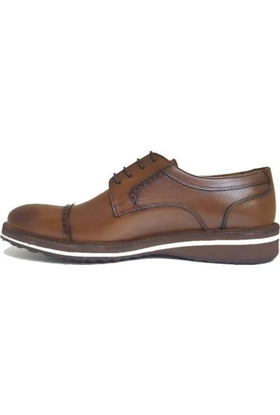 Serdar Yeşil Erkek Taba Deri Eva Taban Klasik Ayakkabı