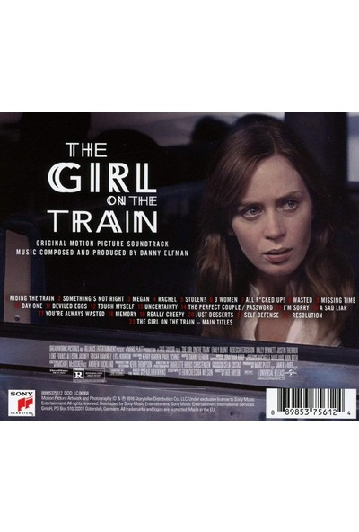 Danny Elfman – The Girl On The Train (Original Motion Picture Soundtrack) CD