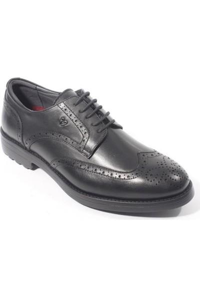 Forelli 36226 Erkek Siyah Deri Comfort Ayakkabı