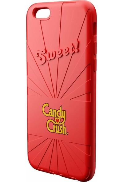 Candy Crush Apple iPhone 6/6S Silikon Kılıf - Kırmızı