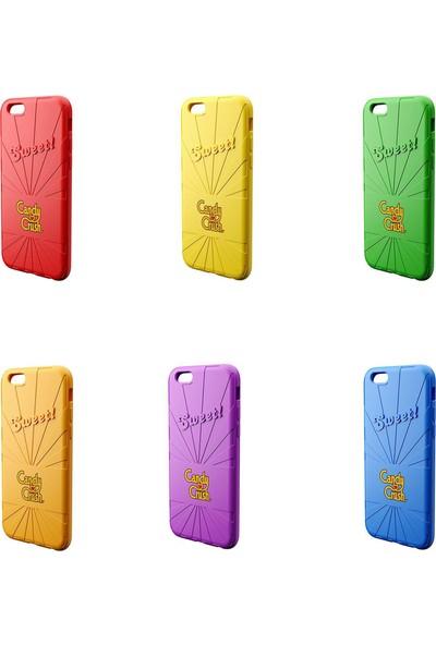 Candy Crush Apple iPhone 6/6S Silikon Kılıf - Sarı