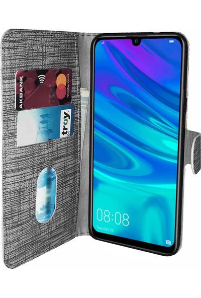 Samsung Galaxy A50 Kılıf FitCase Fabric Kapaklı Cüzdanlı - Siyah