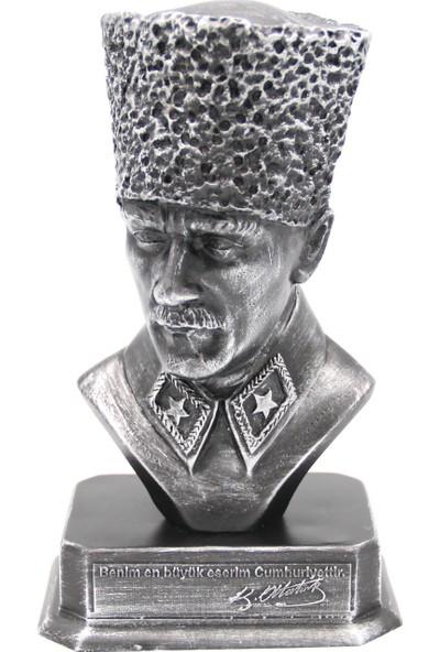 Hediye Biziz Mustafa Kemal Atatürk Büst Gümüş