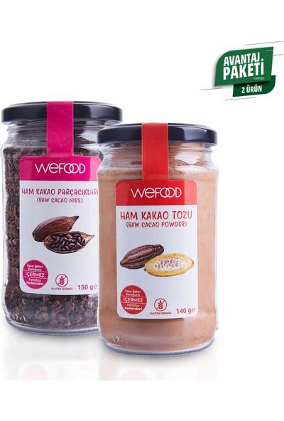 Wefood Ham Kakao Tozu 140 gr + Ham Kakao Parçacıkları 150 gr