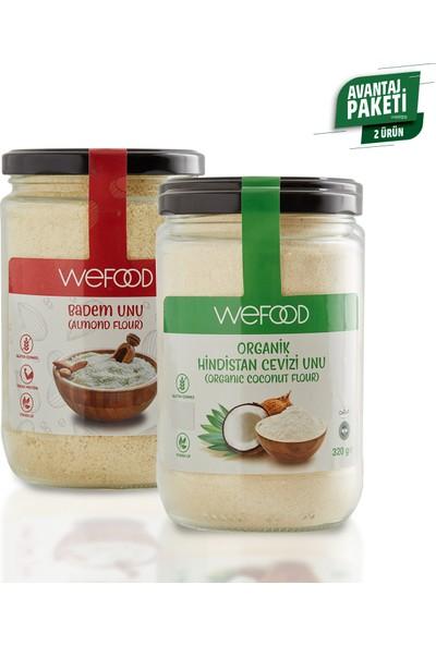 Wefood Badem Unu 250 gr + Organik Hindistan Cevizi Unu 320 gr