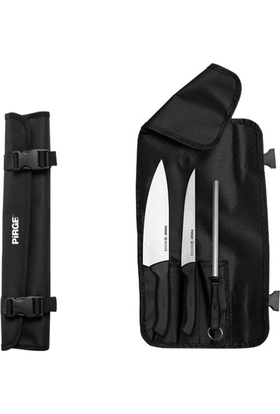 Pirge Ecco Çantalı 3'lü Bıçak Seti