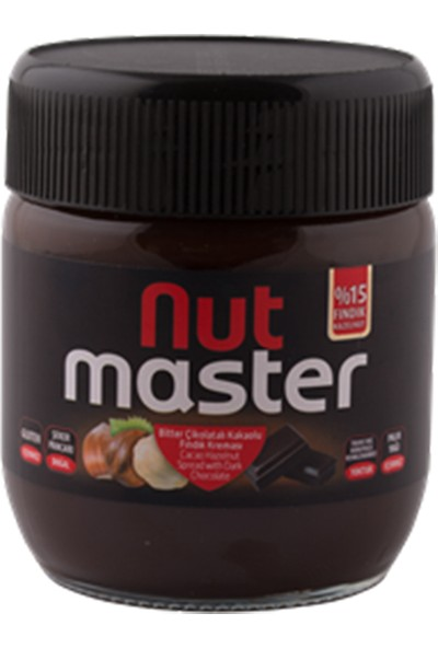 Nut Master Bitter Çikolatalı Kakaolu Fındık Kreması 400 gr