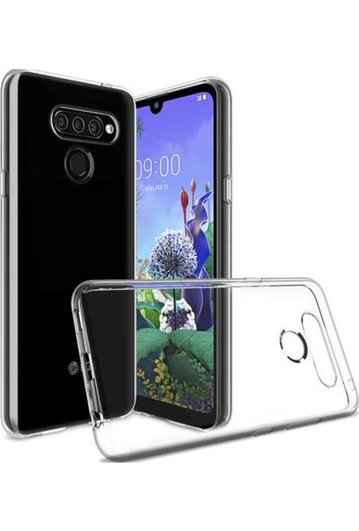 ZORE LG Q60 Silikon Arka Kapak - Şeffaf