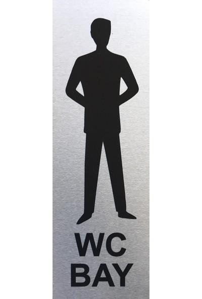 Se -Dizayn Wc Bay Tuvalet Tabelası Kapı Yönlendirme Levhası 5cm X 15cm