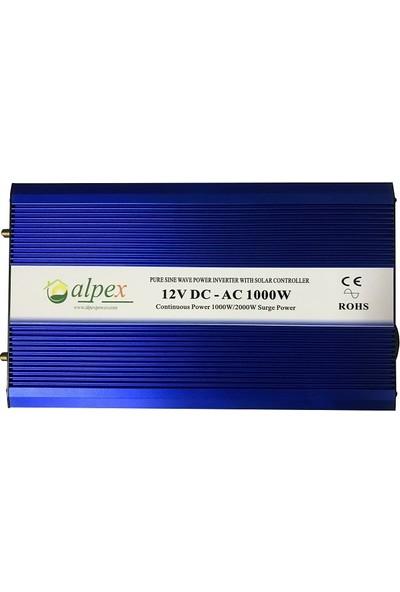 Şarj Kontrolörlü Tam Sinüs Inverter 1000 Watt 12 Volt