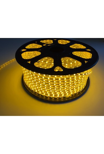 Cata Şerit LED Hortum 3 Çip Dış Mekan Smd LED Kırmızı Renk 1 m + Fiş