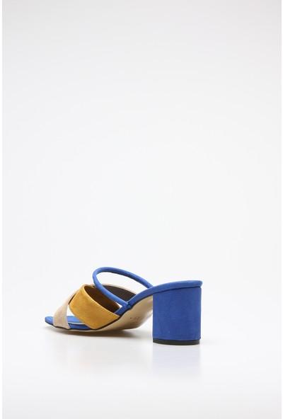 Rovigo Plus Sax Mavi Suet Kadın Terlik