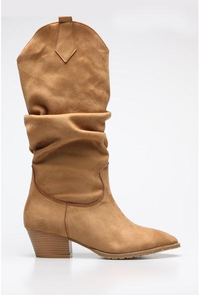 Rovigo Plus Vizon Suet Kadın Çizme