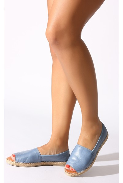 Rovigo Plus Kot Mavi Kadın Babet