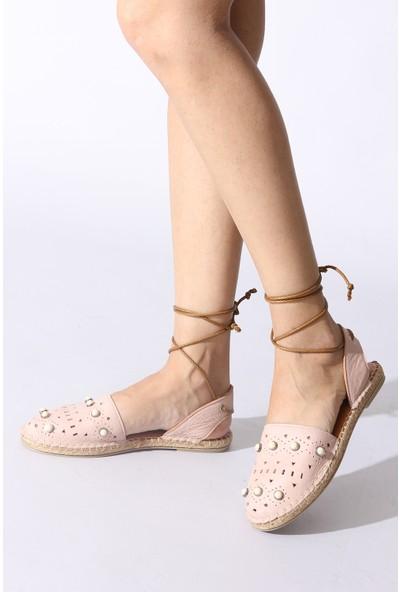 Rovigo Plus Pudra Kadın Sandalet