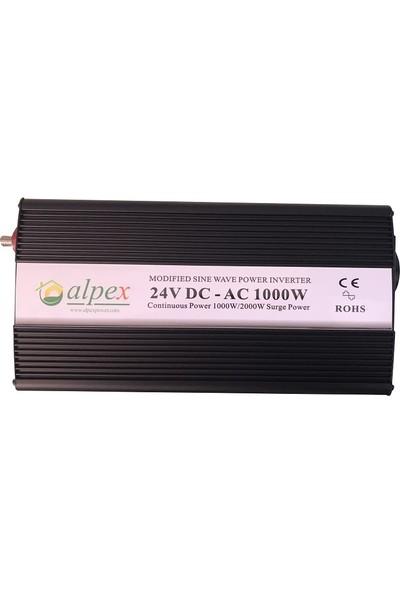 Alpex Modifiye Sinüs Inverter 1000 Watt 24 Volt