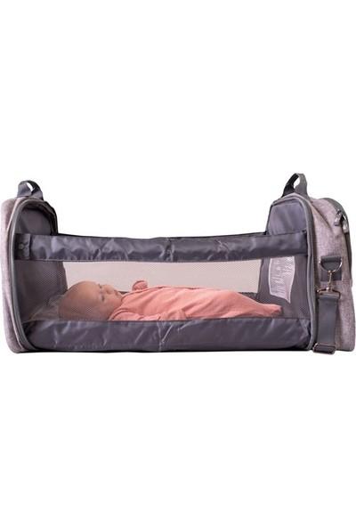 Bizzigrowin Podbag Portatif Yatak Olan Anne Bebek Bakım Çantası
